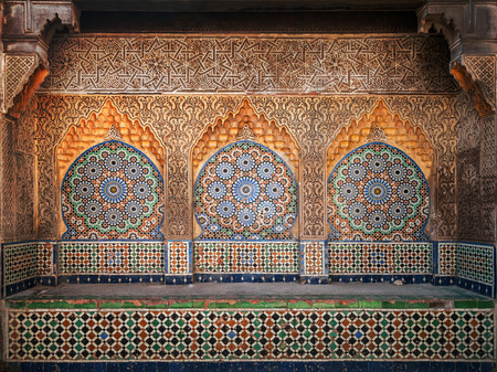 Ancient Arabic niche with mosaic in Medina  Tangier, Morocco