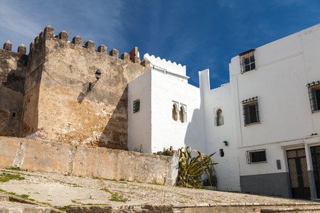 madina: Ancient fortress and living houses  Madina, old part of Tangier town, Morocco