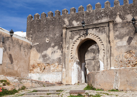 marocco: Ancient stone fortress in Medina  Tangier, Morocco
