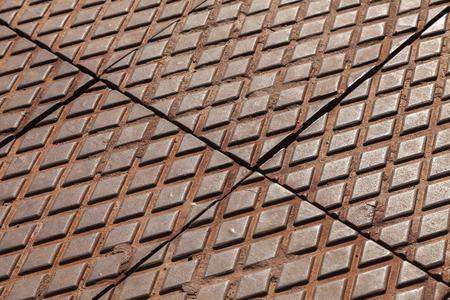 Rusted steel diamond plates photo texture photo