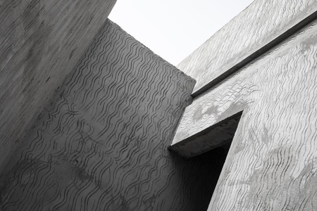 Abstract modern gray concrete architecture photo fragment  photo