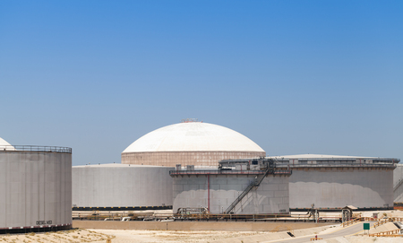 Group of big oil tanks. Ras Tanura terminal, Saudi Arabia