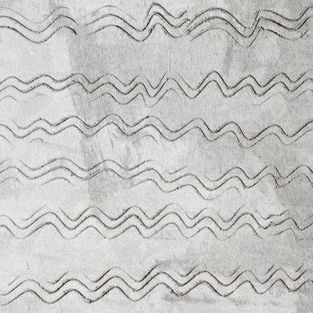 waved: Gray concrete wall texture with waved pattern