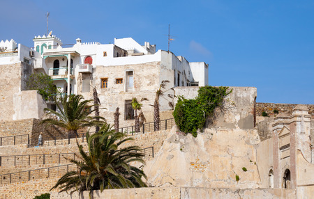 medina: Ancient fortress and living houses in Medina. Tangier, Morocco