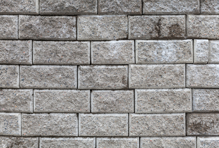 Background photo texture of gray brick wall photo