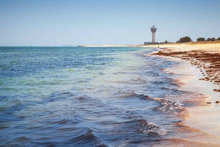 persian gulf: Coast of Persian Gulf. Ras Tanura, Saudi Arabia Stock Photo