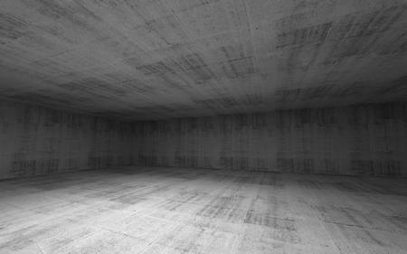 Abstrakt leer breiten Raum Beton interior 3d render