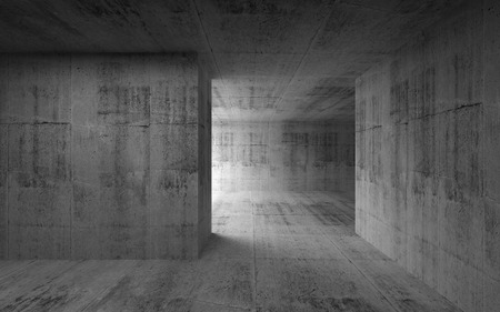 Abstract empty room concrete interior  3d render