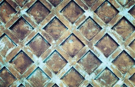 Grunge blue concrete fence background photo texture.  photo