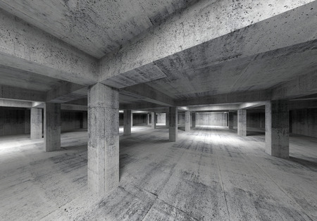 Empty abstract industrial concrete interior  3d illustration illustration