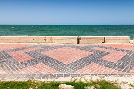 persian gulf: Lane on the Coast of Persian Gulf in Saudi Arabia