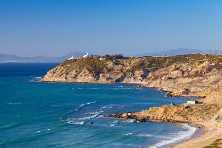 Atlantic Ocean coast. Landscape of Gibraltar strait, Morocco photo