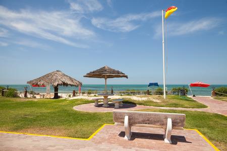 persian gulf: Beach in Rahima campus, Persian Gulf, Saudi Arabia Stock Photo