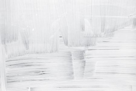 Witte verf laag op glazen wand, textuur Stockfoto