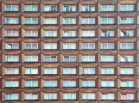 Metal facade with windows, background texture Stock Photo - 31267034