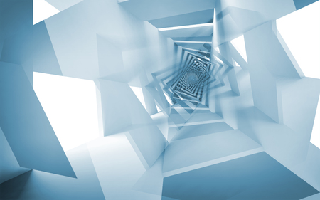 Blue abstract background illustration, fantasy spiral pattern