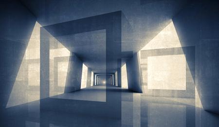 デジタル 3 d の幾何学的な抽象的な背景 写真素材