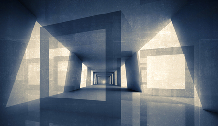 illusion: Abstract geometric digital 3d background