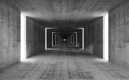 추상 빈 회색 콘크리트 내부 배경 3d 렌더링