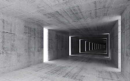 3d render, abstract empty concrete interior background