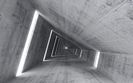 Abstract empty concrete interior, 3d render of pitched tunnel Stock fotó - 31861210