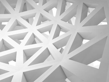 arte abstracto: 3d abstracto con la construcci�n de alambre tri�ngulo blanco