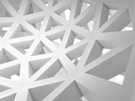 Abstract 3d with white triangle wire construction