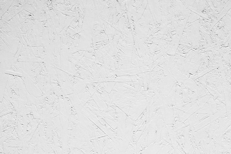 osb: White grungy painted wooden plywood wall. Background photo texture