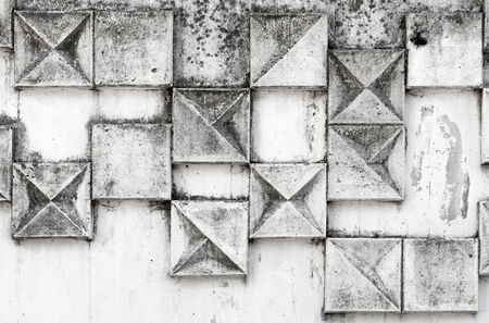 Abstract background texture with square pattern on white industrial urban wall photo