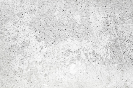 White concrete wall with stucco and paint, background texture Archivio Fotografico