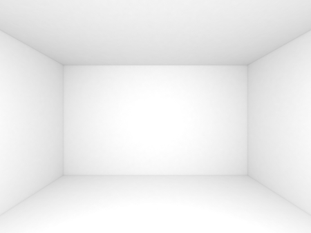 clean room: Empty white 3d room interior background, front view