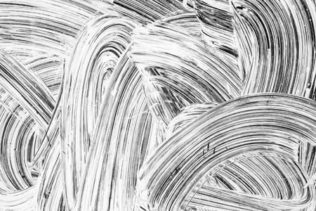 Abstracte vernieuwing achtergrond textuur, witte verf patroon over donkere glazen Stockfoto