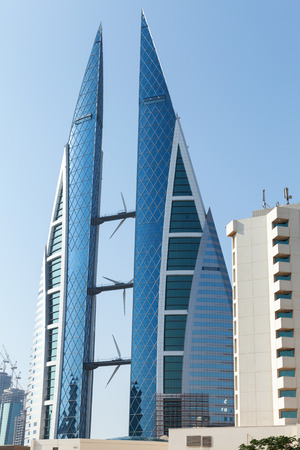 world trade center: Manama, Bahrain - November 21, 2014: Bahrain World Trade Center Editorial