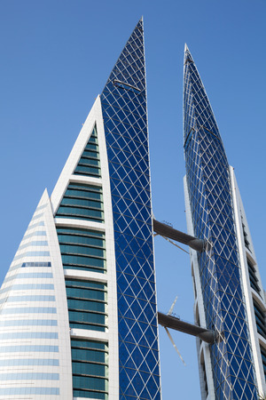 world trade center: Manama, Bahrain - November 21, 2014: Bahrain World Trade Center facade Editorial