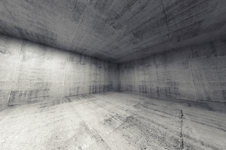 suelos: Habitaci�n vac�a, abstracta hormig�n interior 3d. Amplia representaci�n �ngulo