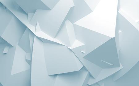 Abstrakte blaue und weiße digitale 3D chaotischen Polygonfläche Hintergrundtextur