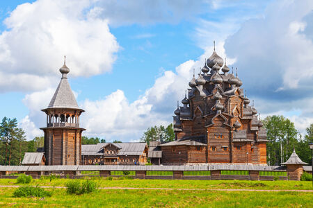 intercession: Russian wooden Church of the Intercession. Saint-Petersburg, Russia