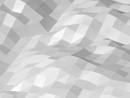 digital modern: Abstract white digital 3d low poly surface background texture