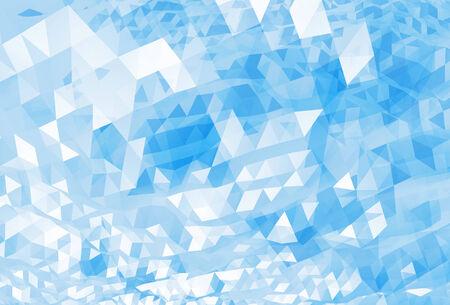 추상 혼란 밝은 파란색 디지털 삼각형 낮은 폴리 배경 텍스처