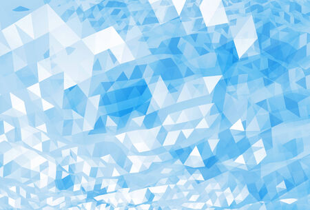 Abstract chaotic bright blue digital triangle low poly background texture Imagens
