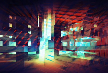 virtualization: Abstract colorful digital background. Hi-tech 3d concept illustration