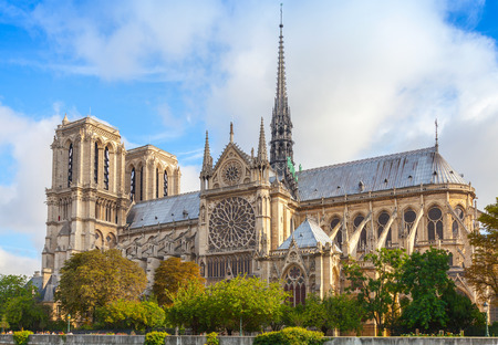 landmarks: Notre Dame de Paris cathedral, France. The most popular city landmark