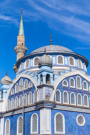 fatih: Facade of Fatih Camii (Esrefpasa) old mosque in Izmir, Turkey