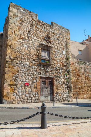 empires: Street view of Via del Imperi Roma, the Way of Empires Rome in Tarragona, Spain