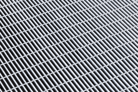 metal grid: Gray metal grid, abstract background texture pattern Stock Photo