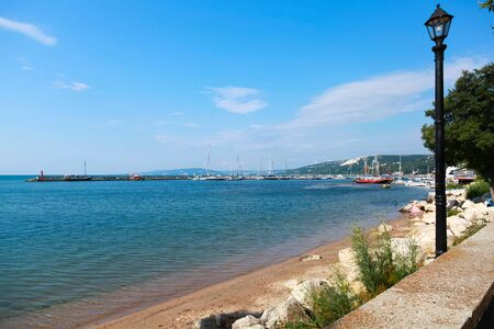 balchik: Coastal summer landscape of Balchik town, Coast of Black Sea, Varna region, Bulgaria