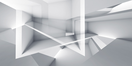 skylight: Abstract futuristic architecture chaotic background,  digital 3d render illustration