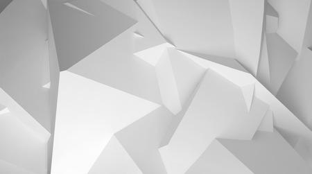 grey backgrounds: White abstract digital 3d chaotic polygonal surface background texture