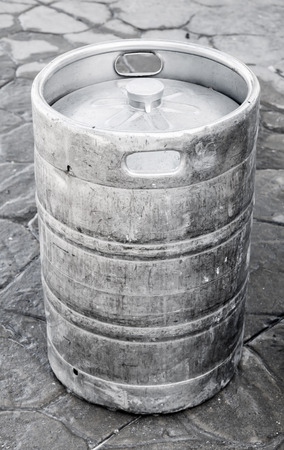 real ale: Used aluminum keg, small barrel commonly used to store, transport, and serve beer