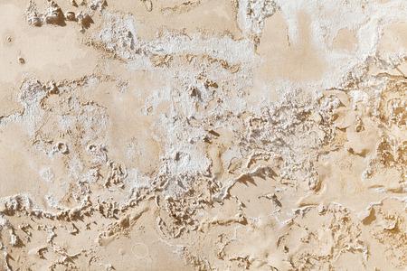 Vieux Mur De Béton Jaune Endommagé Avec Relief De Peinture Fissurée Texture D Arrière Plan
